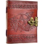 Pentagram Leather Journal with Latch at LABEShops, Home Decor, Fashion and Jewelry
