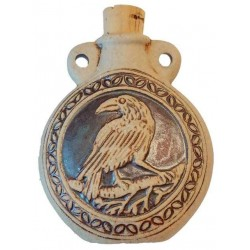 Raven Raku Oil Bottle Necklace LABEShops Home Decor, Fashion and Jewelry