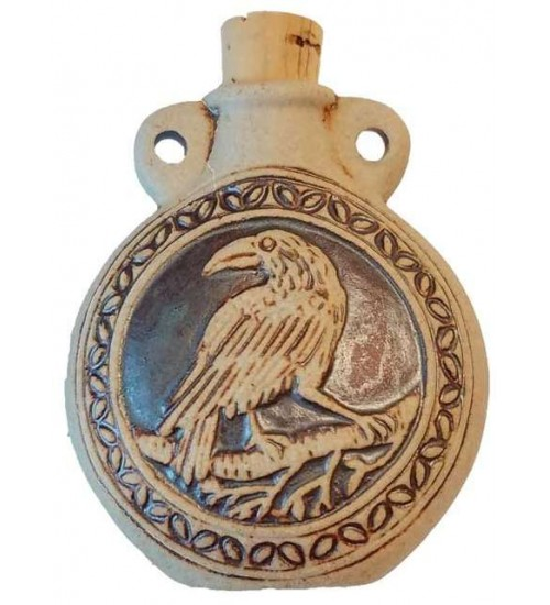 Raven Raku Oil Bottle Necklace at LABEShops, Home Decor, Fashion and Jewelry