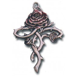Rosycroix Gothic Rose Cross Necklace LABEShops Home Decor, Fashion and Jewelry