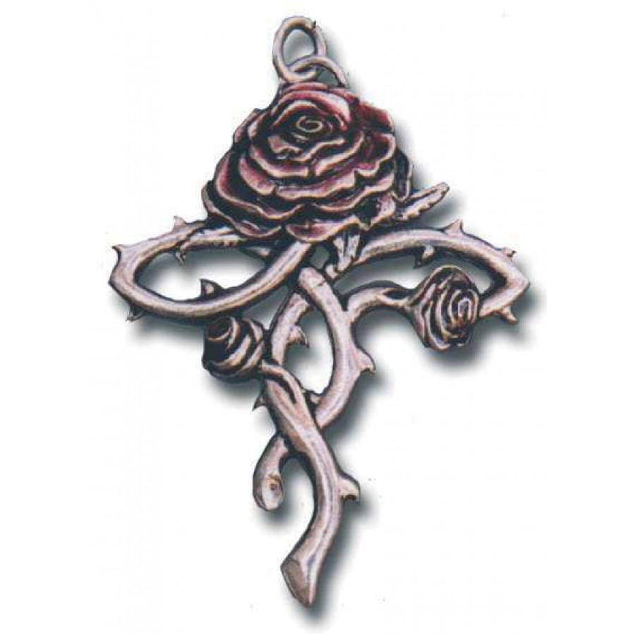 Rosycroix gothic rose cross necklace thorn and rose cross gothic rosycroix gothic rose cross necklace at labeshops home decor fashion and jewelry aloadofball Choice Image