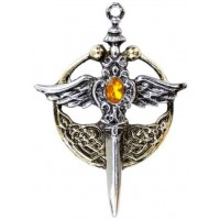 Saint Michael Relic Pewter Necklace