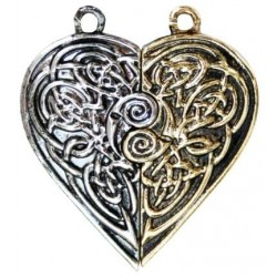 Tristan and Iseult Heart Token Necklace LABEShops Home Decor, Fashion and Jewelry