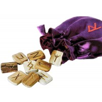 Wooden Runes in Pouch