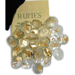 Crystal Quartz Gemstone Runes LABEShops Home Decor, Fashion and Jewelry