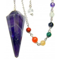 Amethyst Chakra Scrying Pendulum LABEShops Home Decor, Fashion and Jewelry