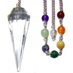 Clear Quartz Crystal Chakra Scrying Pendulum LABEShops Home Decor, Fashion and Jewelry