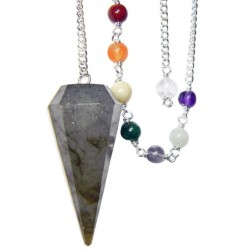 Labradorite and Chakra Scrying Pendulum LABEShops Home Decor, Fashion and Jewelry