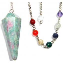 Ruby Zoisite Chakra Scrying Pendulum LABEShops Home Decor, Fashion and Jewelry