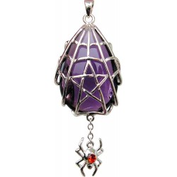 Spyder Pentacle Crystal Keeper Spider Gothic Necklace LABEShops Home Decor, Fashion and Jewelry