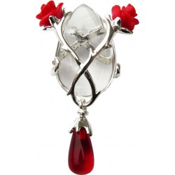 Perfect Love Rose and Thorn Crystal Keeper Necklace LABEShops Home Decor, Fashion and Jewelry