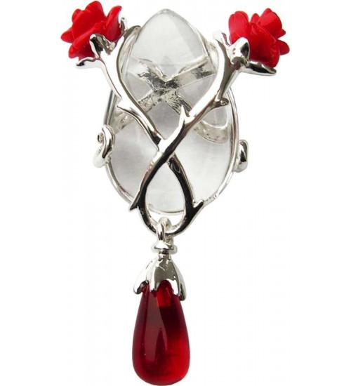 Perfect Love Rose and Thorn Crystal Keeper Necklace at LABEShops, Home Decor, Fashion and Jewelry