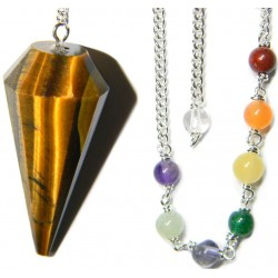 Tigers Eye Chakra Scrying Pendulum LABEShops Home Decor, Fashion and Jewelry
