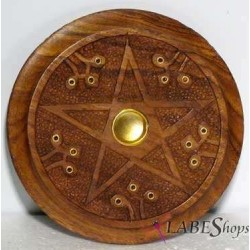 Wood Pentacle Incense Burner LABEShops Home Decor, Fashion and Jewelry
