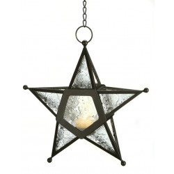 Star Hanging Lantern - Clear LABEShops Home Decor, Fashion and Jewelry