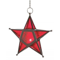 Star Hanging Lantern - Red LABEShops Home Decor, Fashion and Jewelry