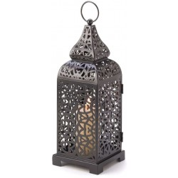 Moroccan Tower Candle Lantern LABEShops Home Decor, Fashion and Jewelry