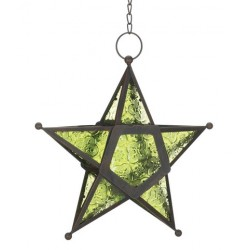 Star Hanging Lantern - Green LABEShops Home Decor, Fashion and Jewelry