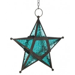 Star Hanging Lantern - Blue LABEShops Home Decor, Fashion and Jewelry
